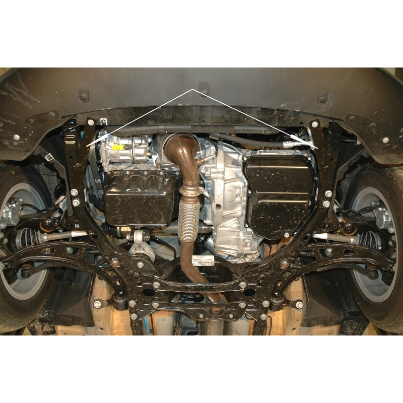 Mini One Countryman Cover Under The Engine And Gearbox 16 Aluminium