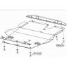 Mitsubishi Galant (cover under the engine and gearbox) - Metal sheet