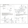 Mitsubishi Lancer (cover under the engine and gearbox) 1.3, 1.6, 2.0 - Metal sheet