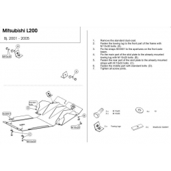 Mitsubishi L 200 (cover under the engine) - Metal sheet