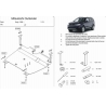 Mitsubishi Outlander (cover under the engine and gearbox) 3.0 - Aluminium