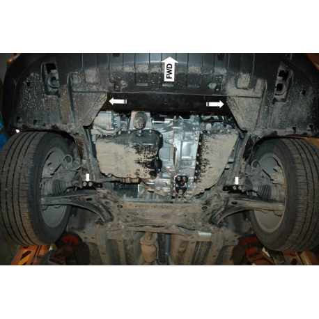 Mitsubishi Outlander (cover under the engine and gearbox) 2.0, 2.4, 2.2Di-D - Aluminium