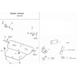 Nissan Almera (cover under the engine and gearbox) - Metal sheet