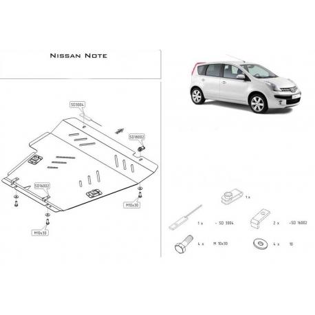 Nissan Note Kryt pod motor a převodovku 1.6 - Hliník