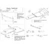 Nissan Pathfinder (cover under the engine and gearbox) - Aluminium