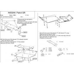Nissan Patrol GR II 5-doors (cover under the gearbox) 3.0, 3.0 DTi - Metal sheet
