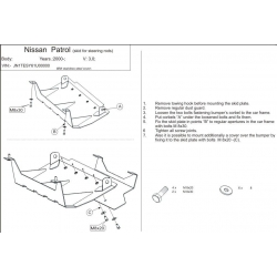 Nissan Patrol GR II (steering cover) - Metal sheet