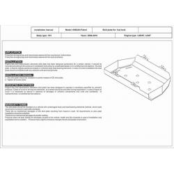 Nissan Patrol GR II (Cover the tank) 3.0 TD - Aluminium