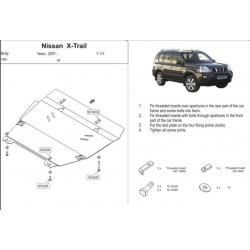 Nissan Vanette (cover under the engine and gearbox) 2.2 - Aluminium