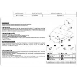 Opel Combo C Kryt pod motor a převodovku 1.4 - Plech