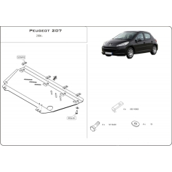 Peugeot 207 (cover under the engine and gearbox) - Metal sheet