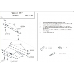 peugeot 607 cover under the engine and gearbox metal sheet rh krytypodmotor cz  peugeot 607 electrical wiring diagram