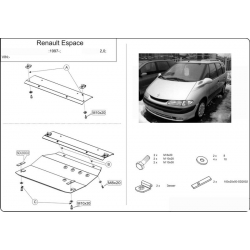 Renault Espace III / Grand Espace (cover under the engine and gearbox) - Metal sheet