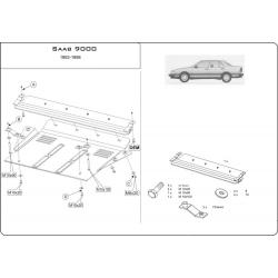 Saab 9000 Motor und Getriebeschutz 2.0, 2.3, 3.0 - Stahl