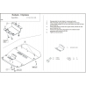 Subaru Impreza (cover under the engine) 1.6, 1.8, 2.0 - Metal sheet