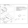 Subaru Impreza (cover under the engine) 1.6, 1.8, 2.0 - Aluminium