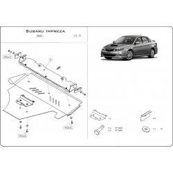Subaru Impreza (cover under the engine) 1.5, 2.5 - Metal sheet