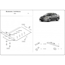 Subaru Impreza (Cover the automatic transmission) 41761 - Metal sheet
