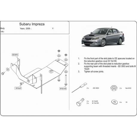 Subaru Impreza XV (differential cover rear axle) 2,0 - Aluminium