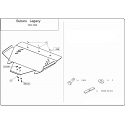 Subaru Legacy I / II Unterfahrschutz 2.0, 2.5 - Alluminium
