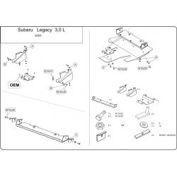 Subaru Legacy IV (cover under the engine) 3.0 - Metal sheet