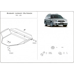 Subaru Outback (cover under the engine) 2.5 - Metal sheet