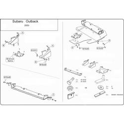 Subaru Outback (cover under the engine) 2.0, 2.5 - Aluminium