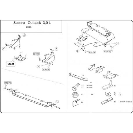 Subaru Outback Unterfahrschutz 3.0 - Alluminium