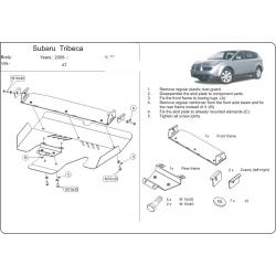 Subaru Tribeca (cover under the engine) 3.0 - Aluminium