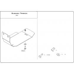 Subaru Tribeca (Kryt diferenciálu zadní náprava) 3.0, 3.6 - Plech