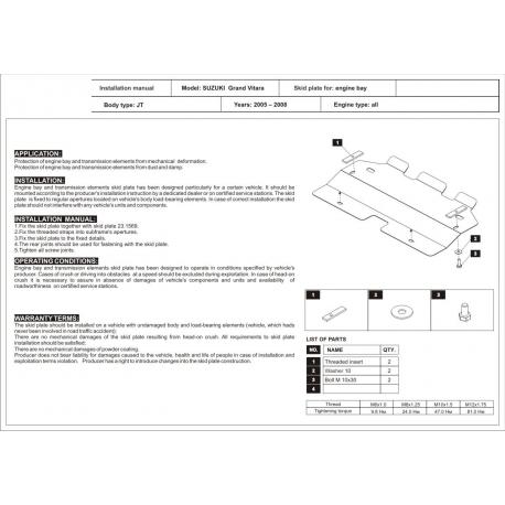 Suzuki Grand Vitara (Kühlerschutz) - Stahl