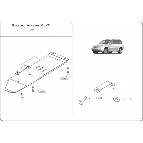 Suzuki Grand Vitara XL-7 (cover under the gearbox) - Metal sheet