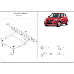Suzuki Swift (cover under the engine and gearbox) - Metal sheet