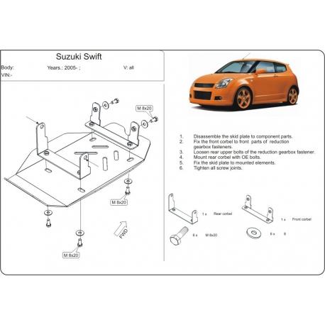 Suzuki Swift (differential cover rear axle) - Metal sheet