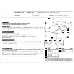 Suzuki SX 4 (cover under the engine and gearbox) 1.5, 1.6 (4x4) - Metal sheet