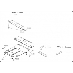 Toyota Celica Motor und Getriebeschutz - Stahl