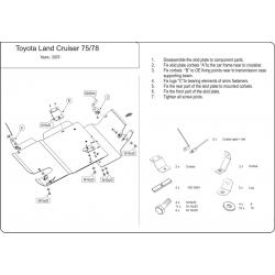 Toyota Land Cruiser 75 / 78 kryt pod převodovku 4.2 D - Plech