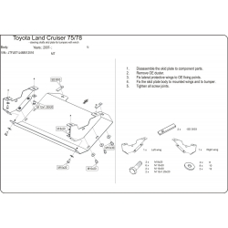 Toyota Land Cruiser 75 / 78 (steering cover) 4.2 D - Metal sheet