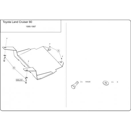 Toyota Land Cruiser 80 (steering cover) - Metal sheet