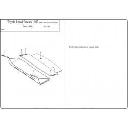 Toyota Land Cruiser 105  (steering cover) - Metal sheet