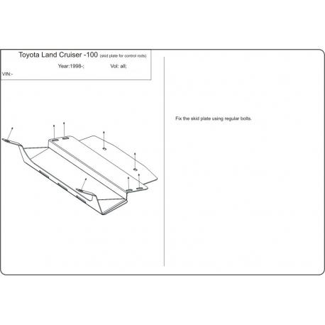 Toyota Land Cruiser 105  (Abdeckung der Lenkung) - Stahl