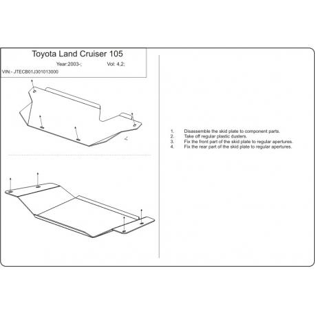 Toyota Land Cruiser 105  Getriebeschutz - Stahl