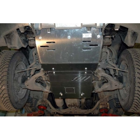 Toyota Land Cruiser 120 / Prado (Abdeckung unter den Motor und die Lenkung) 4.0 - Alluminium
