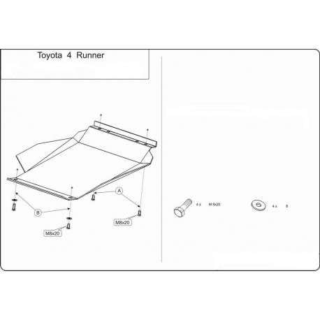 Toyota 4 RUNNER Unterfahrschutz - Stahl