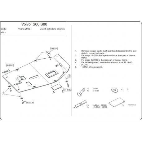 Volvo S80 Motor und Getriebeschutz - Alluminium