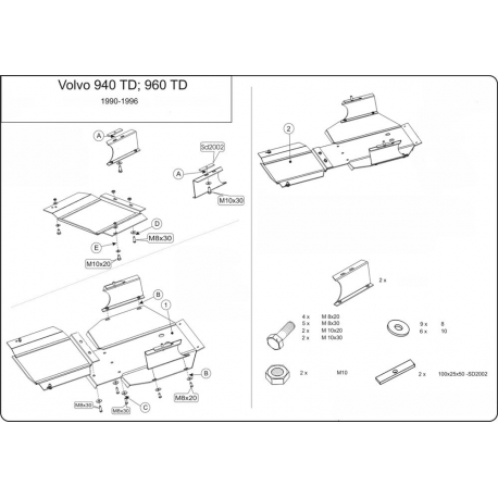 Volvo V90 (cover under the engine and gearbox) 2.9 - Metal sheet