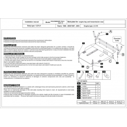 VW Bora (cover under the engine and gearbox) 2.3 V5, V6, 4-motion - Metal sheet