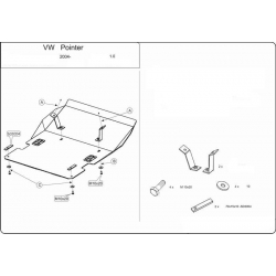VW Pointer (cover under the engine and gearbox) 1.0 - Metal sheet