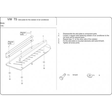 VW T5 (cooler cover) - Metal sheet
