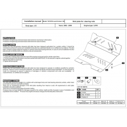 Toyota Land Cruiser 120 / Prado (steering cover) 3.0 TD - Metal sheet